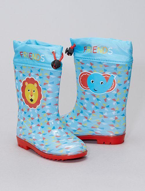 Botas de agua 'animales'                             azul