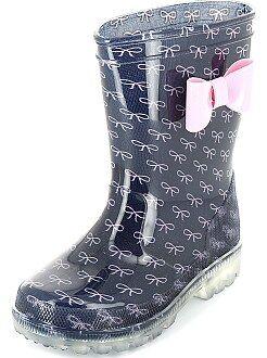 Zapatos niña - Botas de agua con suela luminosa - Kiabi