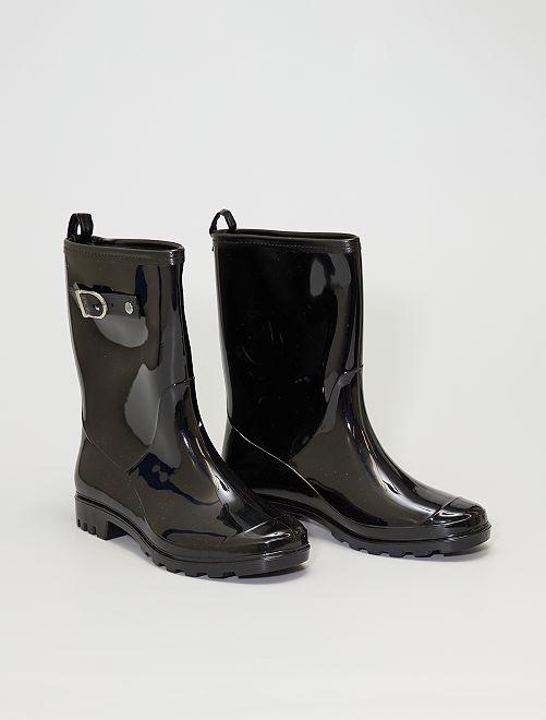 Botas de agua de charol                             negro