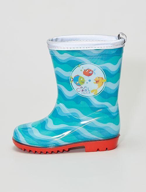 Botas de agua estampadas                             azul