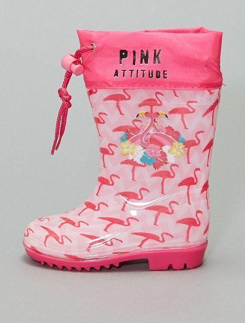 Botas de agua 'flamenco'                             rosa