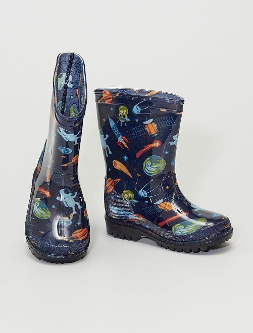 Botas de agua luminosas                             azul
