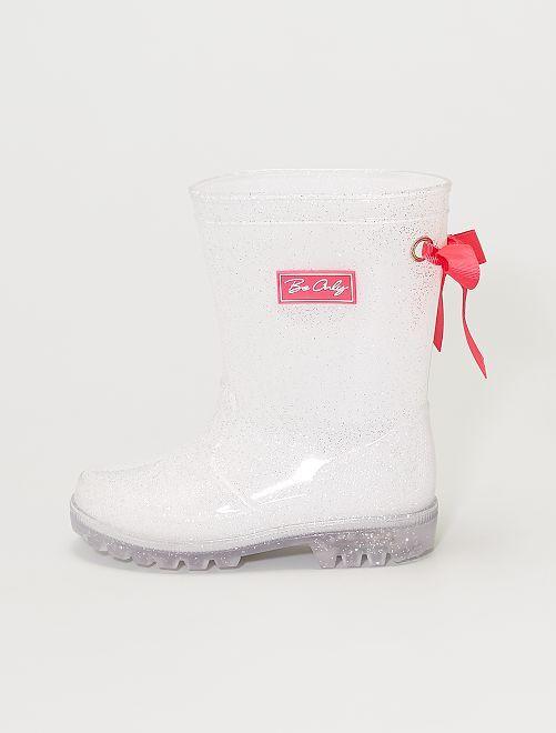 Botas de agua luminosas                             blanco