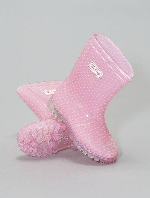Botas de agua luminosas                             rosa