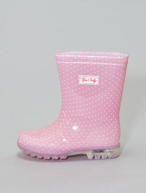 320e96b1 Botas de agua luminosas Bebé niña - rosa - Kiabi - 17,00€