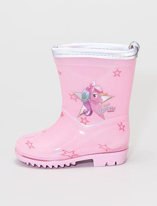 Botas de agua 'unicornio'                             rosa