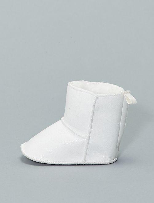 Botas de antelina forradas                             blanco nieve