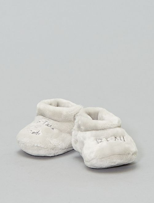 Botas de casa con pelo sintético                                                                                         gris