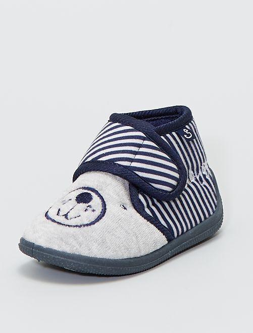 Botas de casa 'ositos'                             gris/marino