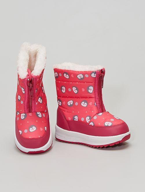 Botas de nieve                             fucsia