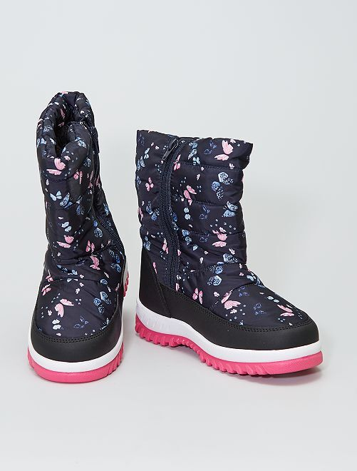 Botas de nieve 'mariposas'                             negro