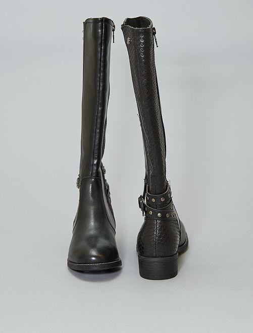be25e1e7 Botas en dos materiales con elásticos 'Xti' Mujer talla 34 a 48 ...
