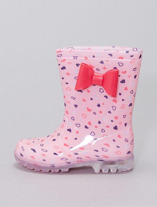 Botas impermeables de goma                             rosa