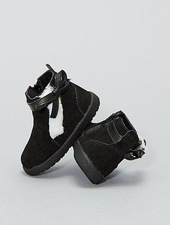 Botines altos de piel - Kiabi