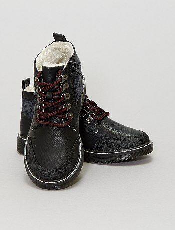 Zapatos - Botines altos de piel sintética - Kiabi
