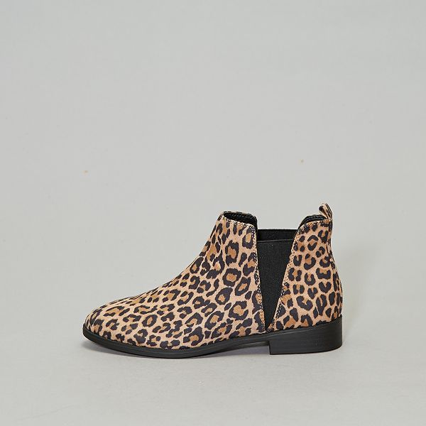 diseño de calidad 5c6bb 6abe9 Botines chelsea 'leopardo' Zapatos - leopardo - Kiabi - 15,00€
