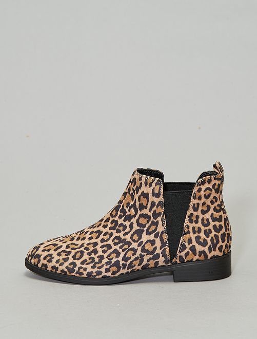Botines chelsea 'leopardo'                             leopardo Zapatos