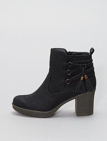 Zapatos - Botines con borlas - Kiabi