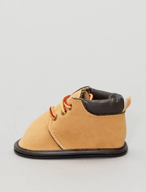 Botines con cordones de fantasía                                         camello Zapatos