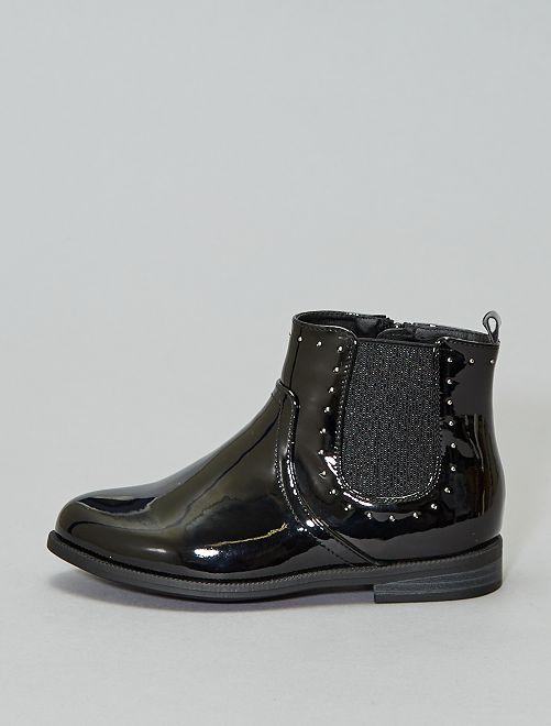 Botines con fuelles brillantes                                                                 NEGRO Zapatos