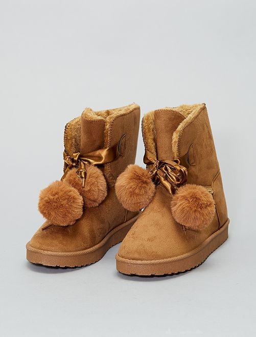 Botines con interior forrado                                                     camello Zapatos