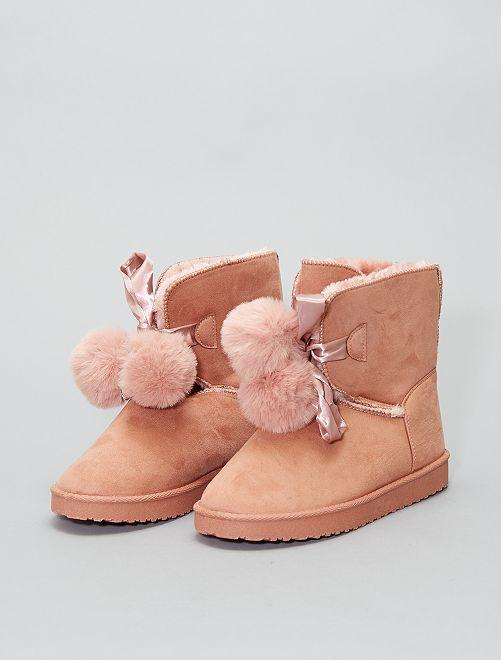 Botines con interior forrado                                                     rosa Zapatos