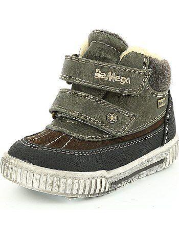 Niño 3-12 años - Botines con pelo y velcros tipo zapatillas - Kiabi