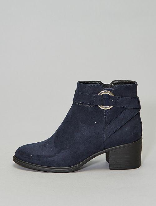 Botines de antelina con hebilla                             azul navy Zapatos