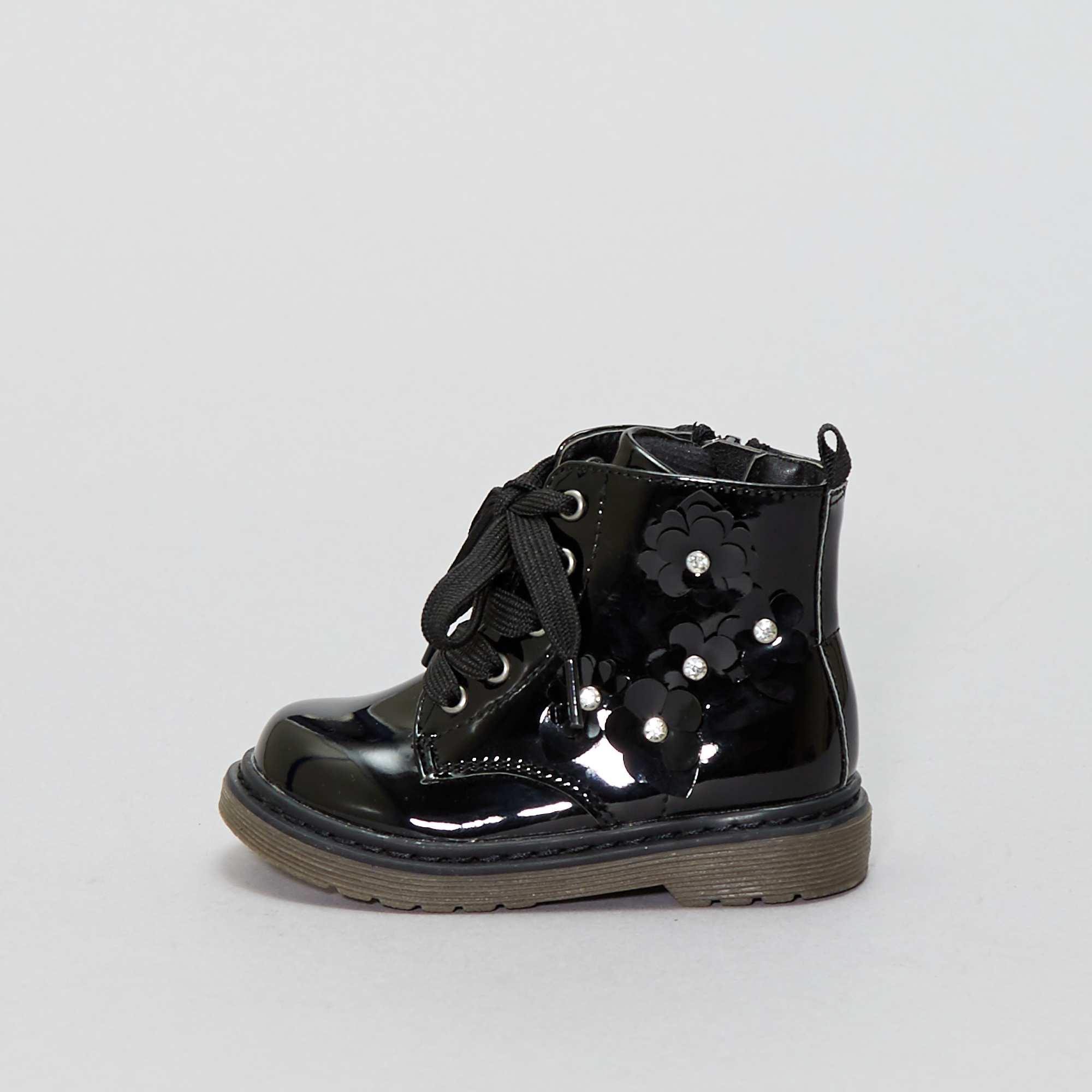 9e0dd28a143 Botines de estilo  montañero  Chica - negro - Kiabi - 17