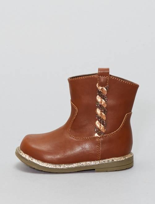 Botines de inspiración western                             beige Zapatos