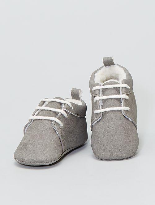 Botines de pelo                             gris