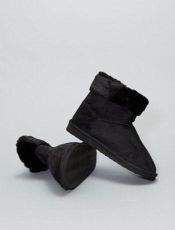 Botines de pelo - Kiabi