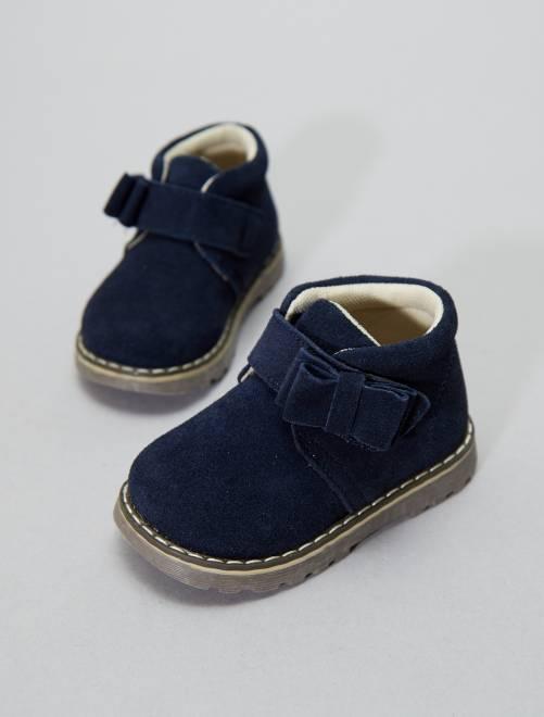 Botines de piel                             azul navy Zapatos