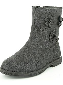 Boots, botas - Botines de piel sintética brillante