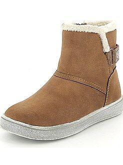 Zapatos niña - Botines de piel sintética