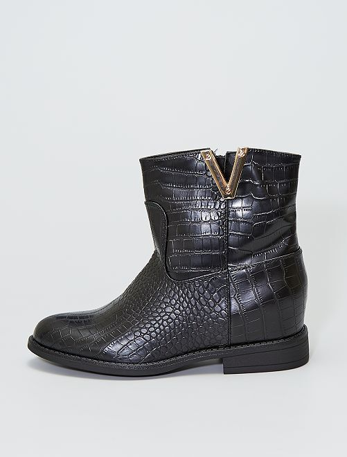 Botines estilo cowboy                                         negro