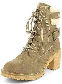 Mujer - Botines estilo zapatos de montaña - Kiabi