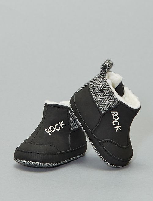 Botines forrados 'rock'                             negro