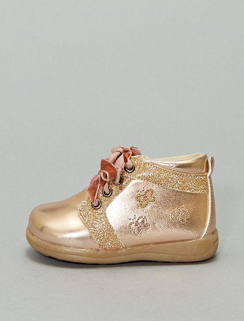 Botines oro rosa                             oro