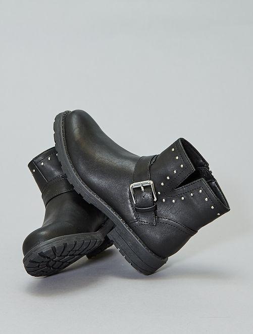 Botines sintéticos con tachuelas                             negro Zapatos