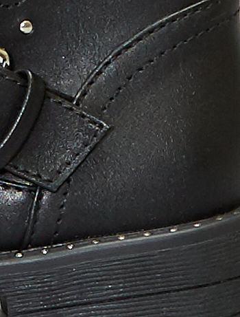 98b89f3daa Botines sintéticos con tachuelas Zapatos - negro - Kiabi - 18,00€