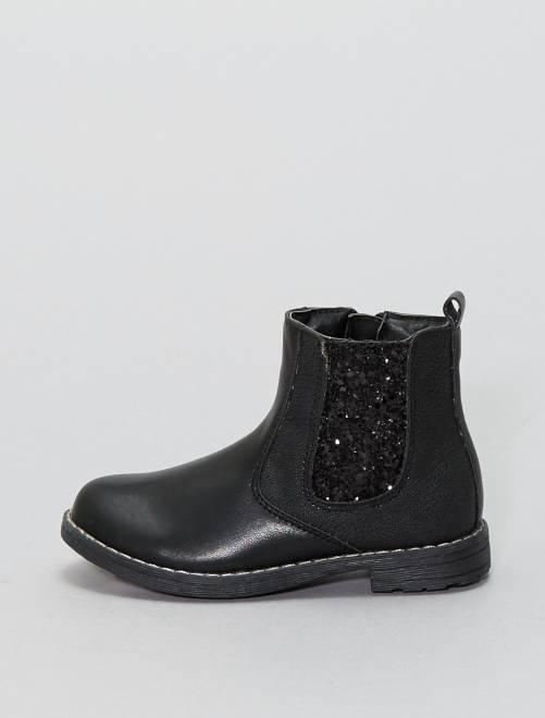 Botines tipo Chelsea                             negro Zapatos
