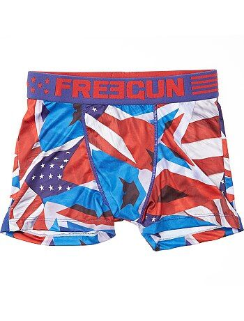 Boxer 'Freegun' con estampado de 'bandera estadounidense' - Kiabi