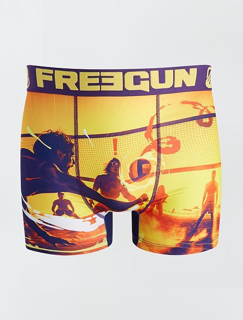 Boxer 'Freegun' estampado                             AMARILLO