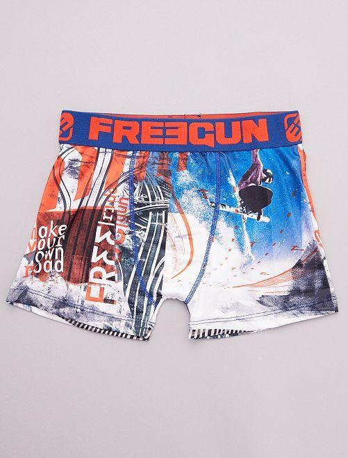 Boxer 'Freegun' estampado 'snow surf'                             BLANCO