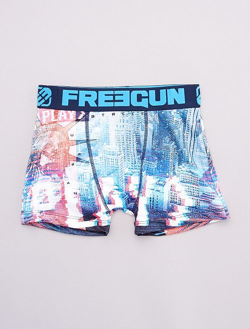 Bóxer 'Freegun' 'New York'                             AZUL