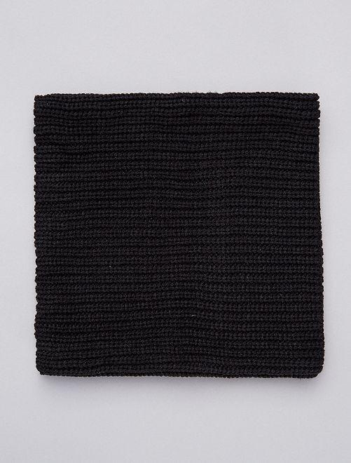 Braga con forro de tejido polar                             negro