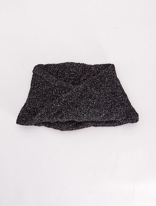 Braga de punto brillante                                         negro