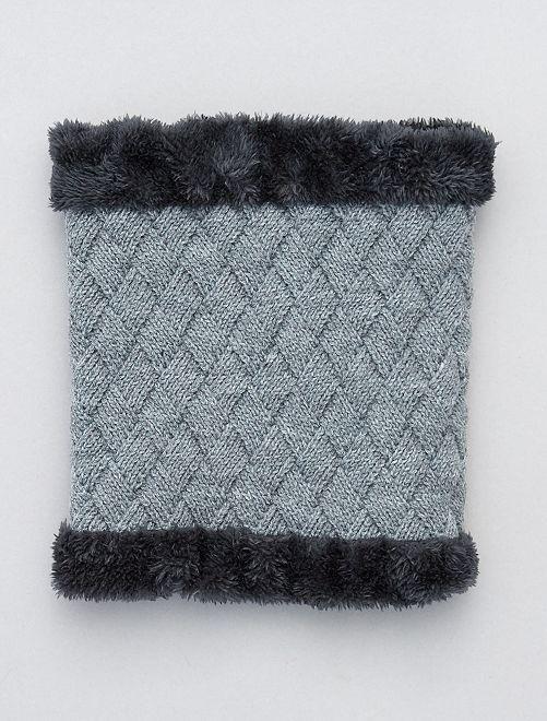 Braga de punto con forro de tejido polar                                                     gris