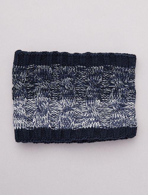 Braga de punto tricotado                             azul
